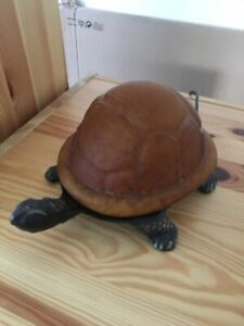 Turtle Night lamp - Amber Glass and Brass