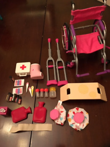 "Playing hospital set for 18"" doll"