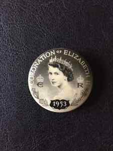 Vintage Original Queen Elizabeth II Coronation 1953 Badge Pin