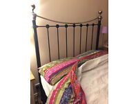 Cast iron double bedstead - 2 years old