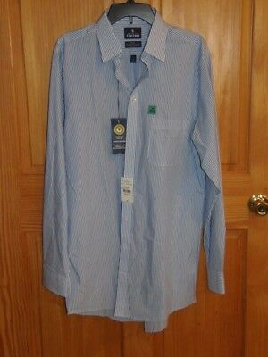 - STAFFORD DRESS SHIRT - FRENCH BLUE BENGAL - MEN - SZ 16 - RET.@60.00(BLU12-A-10)