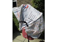 REPLACEMENT HOOD FOR MAMAS & PAPAS LUNA / LUNA MIX PUSHCHAIR-UNDERGROUND STATIONS ETC-OSSETT.
