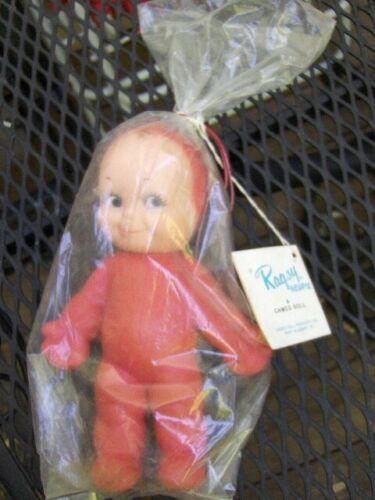 "Vtg Mint w/TAG Sealed in Package 1963 Cameo Ragsy Vinyl Kewpie Doll Toy 8"" NOS"