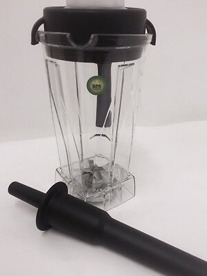Wet and Dry Jug, Container and Tamper For Vitamix Blender BPA FREE.