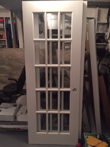 Set of Two Solid Oak French Doors for sale