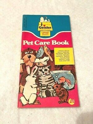 Vintage 1958 Geisler's PET CARE BOOK  A Snoopy Pet Care Product  RARE EUC