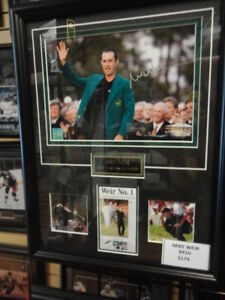 Mike Weir Autographed 8x10 custom framed - Canadian Golfer
