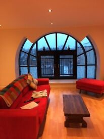 Beautiful and Spacious Flat with Garage at an Old Papermill in Leith