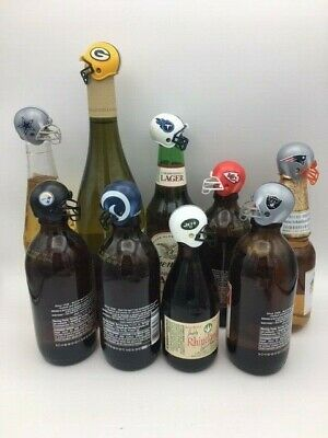 32 NFL Party Favors Beer Bottle Toppers For Tailgate Superbowl Birthday Parties (Superbowl Parties)