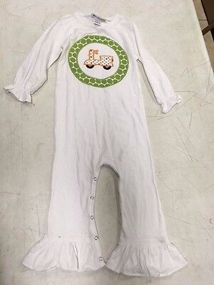 3T Fireflies & Fairytales white outfit ruffle Scooter applique NWT sister 6X