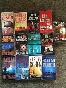 LOT OF 13 SOFT COVERS-ROBERT CRAIS-HARLEN COBEN-JOHN LESCOART+