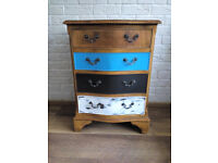 Vintage Antique Mahogany Serpentine Front Chest of 4 Drawers restored