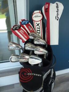 Superbe ensemble de golf Titleist AP1, Adams XTD, CALLAWAY X