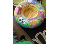 Baby sitting up inflatable ring great condition