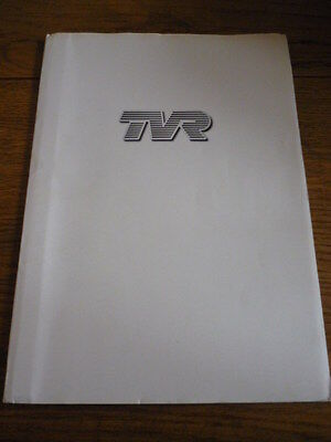 TVR PRESS PACK BROCHURE 2002 UK MOTOR SHOW