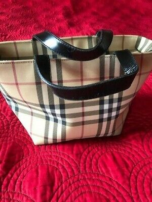 Genuine Burberry Nova Check Ladies Small Tote Bag