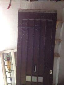 antique solid oak front door 1920s