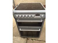 £124.86 Hotpoint grey ceramic electric cooker+60cm+3 months warranty for £124.86