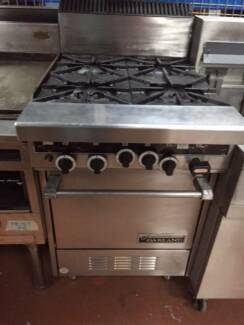 GARLAND FOUR BURNER WITH OVEN SECOND HAND CATERING EQUIPMENT