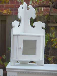 Small upper corner cabinet and hooked picture of maple sap London Ontario image 1