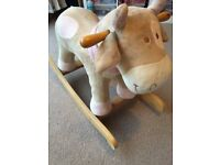 Noukie nursery/children's items including rocking cow