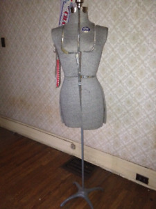 Vintage ACME Adjustable Mannequin Dress Form (Size A) with Stand
