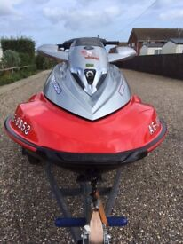 Seadoo Wake 155 Jetski 1500cc 4-tec, only 87 hours, Indespension Roller Trailer