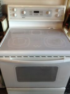 White ceramic cook top convection oven
