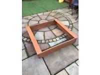 Plum Square Wooden Sand Pit