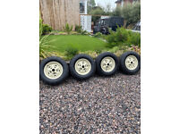4 Roystyle wheels for Range Rover classic suffix A & B with almost new BFG tyres