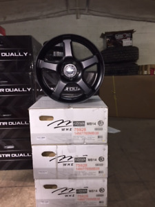 "Set of 17"" MB Wheels MB14 with Matte Black Finish 5x114.3"