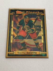 Teemu Selanne - 1995 Topps Finest Bronze Hockey Card