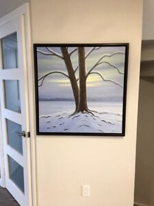 """Norman R. Brown oil on canvas """"Winter Love"""""""