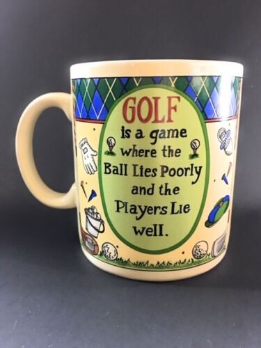 Papel Giftware Golf Is A Game Where the Ball Lies Poorly Mug     GR2