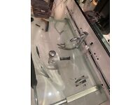 Bathroom sink clear wall hung super condition