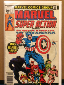 1977 1st EDITION MARVEL SUPER ACTION CAPTAIN AMERICAN COMIC BOOK