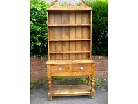 Antique Welsh Dresser approx 1890 in Pitch pine believed to have been made on Gower