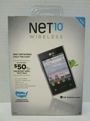 "NET 10 WIRELESS LG OPTIMUS LOGIC ANDROID 3.2"" TOUCHSCREEN -"