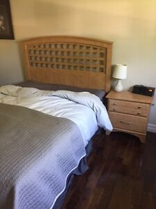 Queen Bedroom Set; Mattress and Box Spring can also be included