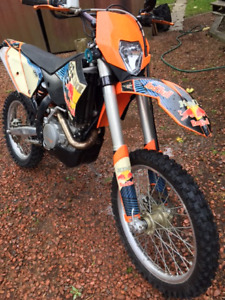2010 KTM 450 EXC STREET LEGAL RED BULL EDITION