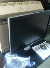 """DELL 24"""" Monitor u2410 with original box and ALL CABLES"""