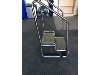 Strong Steps With Removable Hand Rails - Caravan / Patio / Conservatory / Mobility - Custom made