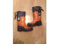 OREGAN YUKON - Safety Chainsaw Boots Size 38/5.5 UK - Black & Orange