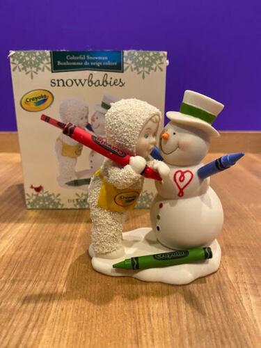 Dept 56 Snowbabies -  Colorful Snowman Crayola Crayon  #6009150 New for 2021