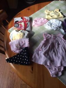 Baby girl clothes, newborn to 9 months