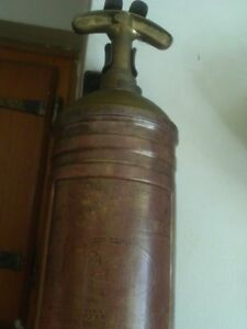 Vintage Brass Pyrene Fire Extinguisher