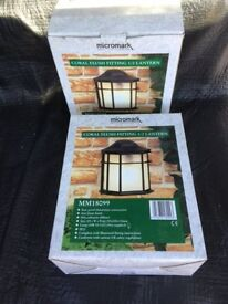 Micromark Outdoor Lanterns (2 Off). As New, never used.
