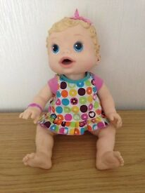 Baby Alive Changing Time Doll 2009 Hasbro Blonde