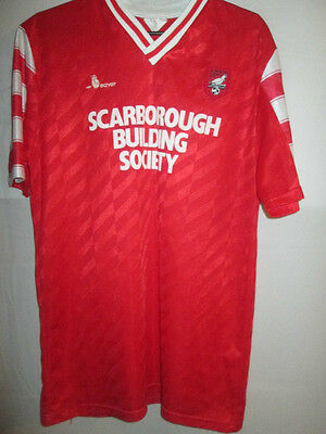 Scarborough 1988-1989 Home Football Shirt Size Medium /9551 image