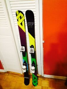 SKIS Twin Tip VOLKL, Ski Poles VOLKL, Helmet SMITH